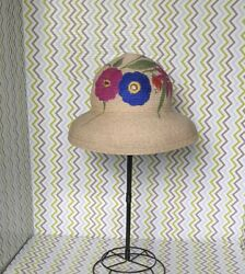 NEW Deborah Rhodes Hand Painted Straw Hat Beach $29.99