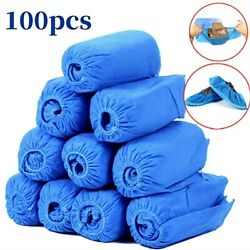 100pcs Disposable Shoe Covers Indoor Cleaning Floor Non Woven Fabric Overshoes $12.99