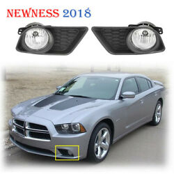 Fits 11 14 Dodge Charger Fog Lights Clear Bumper Pair Lamp SwitchWiring Kit New $49.97
