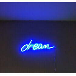 """18""""x6"""" Blue Dream LED Neon Light Sign Hanging Wall Art Decor for Bedroom Party $44.59"""