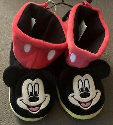 Disney Mickey Mouse Boys Slipper Shoes Size 9 10 $13.99