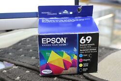 Epson 69 Standard Capacity Ink Cartridge CMYB Pack of 4 T069120-BCS Exp 062022 $49.95