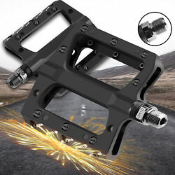 Road Mountain Bike Pedals Flat Wide Platform Sealed Bearing 9 16 in For MTB BMX $21.59