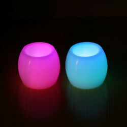 2PCS 7 Colors LED Flameless Candles Operated Tea Lights Night Light Desk Lamp US $4.08