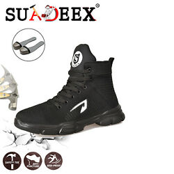 Mens Safety Mesh Shoes Toe Steel Indestructible Work Cap Boots Hiking Trainers $37.99