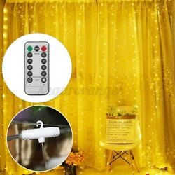 300LED Party Wedding Curtain USB Fairy Lights String Light Home wRemote Control $10.28
