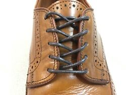 DARK BROWN Round Premium Waxed Cotton Dress Shoelaces Shoe Boot Laces Strings $8.95