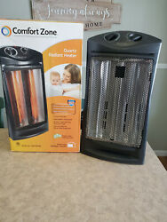 COMFORT ZONE ~Quartz Heater Radiant Tower Space Heat Automatic Thermostat~ (2) $49.55