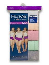 Fruit of the Loom Fit for Me Women's Beyond Soft Briefs 5 Pack All Large Sizes $14.99