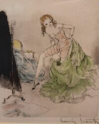 Getting Dressed by Louis Icart. Print Reproduction 8 x 10