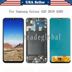 For Samsung Galaxy A20 2019 A205U LCD Touch Screen Digitizer ± Frame Replacement $33.83