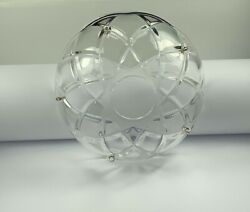 Asfour 4 3 4Inch 120mm Clear with Silver Pin Bobech Lamp Chandelier Parts Cups $11.80