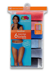 Fruit of the Loom Women's Heather Assorted Low-Rise Brief Panty - 6 Pack 6dlrbh2 $13.50
