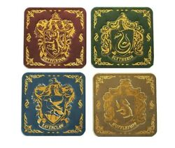 Harry Potter Metal House Crest Drink Coasters Paladone Set Of 4 $11.99