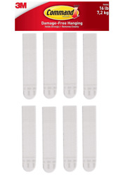 3M Command Picture Hanging Strips Large 4 Pairs 8 Strips Hold 16 lbs $6.99