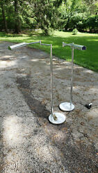 Floor reading lamps CONTEMPORARY MODERN PAIR chrome finish Glenview IL pickup $400.00