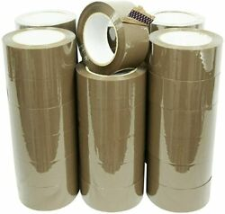 36 Rolls Premium Brown Carton Box Sealing Packing Tape 2 Mil 2