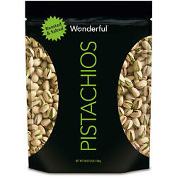 Wonderful Pistachios Roasted and Salted 48 oz. $25.47