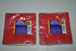 Hallmark Party Express Red 2 Ply Napkins 2 Packages $5.75