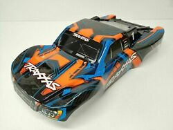 Slash 4x4 ULTIMATE BODY Shell (ORANGE & Blue Cover Shell decals Traxxas 68077-4 $59.95