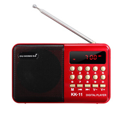 Dc 5V 3W Mini Portable Pocket Lcd Digital Fm Radio Speaker Usb Tf Aux Mp3 Player $17.99