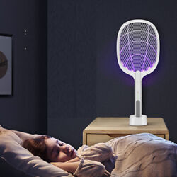 2-IN-1 ELECTRIC SWATTER & NIGHT MOSQUITO KILLING LAMP USB 1200mAh Rechargeable $19.99