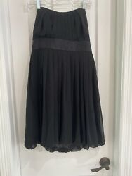 White House Black Market Strapless Bubble Cocktail Chiffon Dress Black Size 6 $25.00