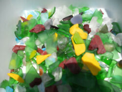just over 1 lb Colorful Lot Jewelry  Crafting Sea River Lake Beach Glass Pcs $6.99