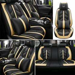 Deluxe Car Seat Cover 5 Sit Cushion Front Rear Car Car amp; Truck Parts Accessories $119.64