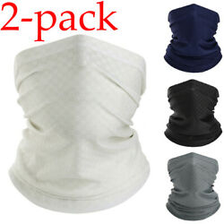 2pcs Bandana Neck Gaiter Balaclava Summer Cool Breathable Face Cover for Fishing $13.98