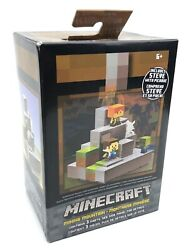 Mojang Mattel Minecraft Cave Biome Collection #1 Mining Mountain amp; Steve Pickaxe $34.95