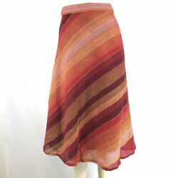 Women's Boho Hippie Summer Striped Sarong Wrap Around Long Skirt Rayon Red $9.99