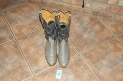 TONY LAMA EXOTIC Gray Leather Antelope 1012 D Western Cowboy Boots #2 $50.00