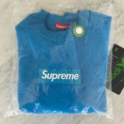 Supreme FW18 Bright Royal Box Logo Crewneck Size Small $850.00