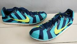 Nike Zoom Rival D Men Sz 11 Track Distance Running Shoe 616310 474 Yellow Spikes $17.49