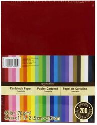Recollections Cardstock Paper Essentials 20 Colors 200 Sheets 8 1 2 X 11 $35.89