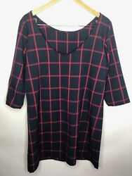 Mango MNG Casual Size L RedBlack striped Summer Dress $14.00