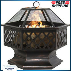 Outdoor Fire Pit Wood Burning 24