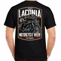 2020 Laconia Motorcycle Week Hot Bagger T Shirt $16.99