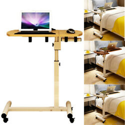 Household Height Adjustable Laptop Sofa Desk Bed Side Snack Tray Table Stand  $55.99