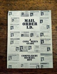 Mail Order I.D. Book Loompanics Unlimited Compiled By Michael Hoy 1985 $35.99