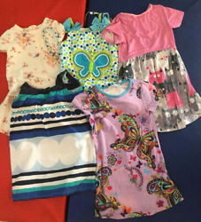 Lot Of 5 Summer Girls Dresses Size 5 Gently Used Old Navy Gymboree Unbranded $16.99