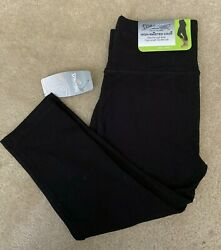 NWT Spalding Women#x27;s High Waisted Crop Legging Deep Black $19.99