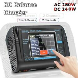 T240 Duo RC Charger Discharger AC 150W DC 240W 10A Touch Screen Dual Channel $99.99