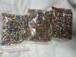 3 Bags Of Mini Beads For Crafting Jewelry Ect 1000 Beads $4.99