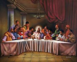 Black African American #2 LAST SUPPER quot;8 x 10quot; Print ready to be framed $12.97