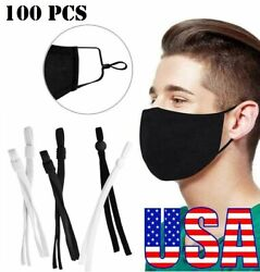 100 Pack Sewing Elastic Band Cord with Adjustable Buckle for DIY Mask Sewing USA $12.20