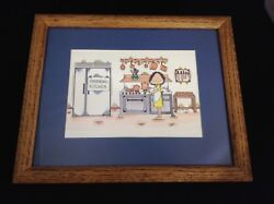 Fun Framed Kitchen Theme Print quot;Amanda#x27;s Kitchenquot; GBP 6.00