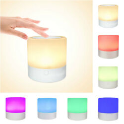 Kids Rechargeable LED Touch Night Light 7 Colors Dimmable Bedside Table Lamp US $11.59