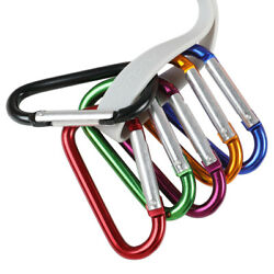 50100x 3 inch Aluminum Carabiner Spring Clip Hook Keychain D Shape Buckle Pack $13.19